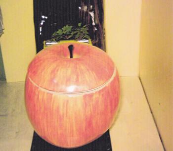 トイレ・りんご